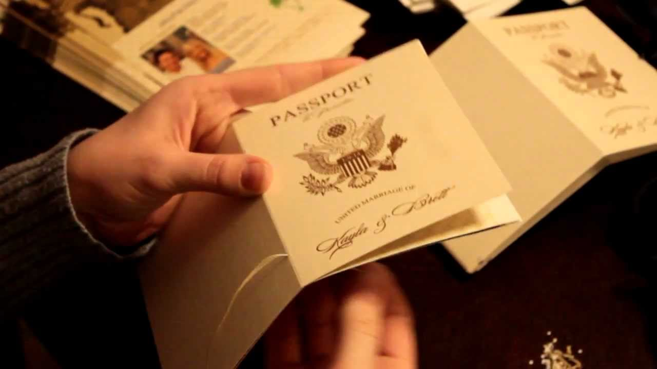 Vanessa\'s Destination Wedding Invitations - How to assemble your ...