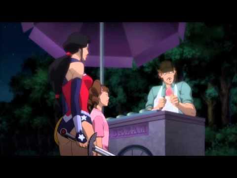Wonder Woman and ice cream (justice league war) - Чудо-женщина и мороженное