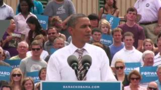 President Obama on the Road to Charlotte - Des Moines, Iowa - Full Speech