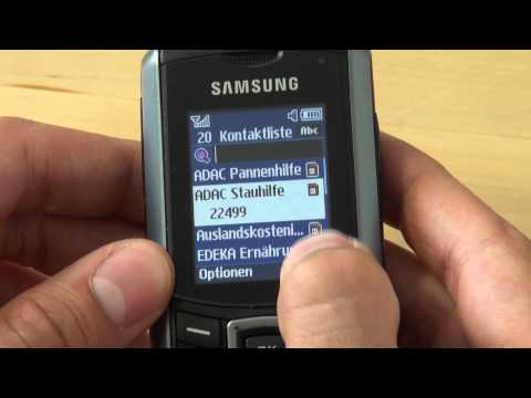 Samsung E2370 Xcover Test Bedienung