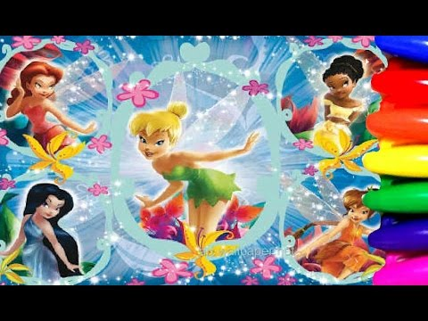 Disney Fairy Princess Tinkerbell Fairytale Coloring Book Page Fun For Kids - COMPILATION