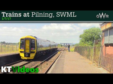 Trains at Pilning, SWML - 1/7/17