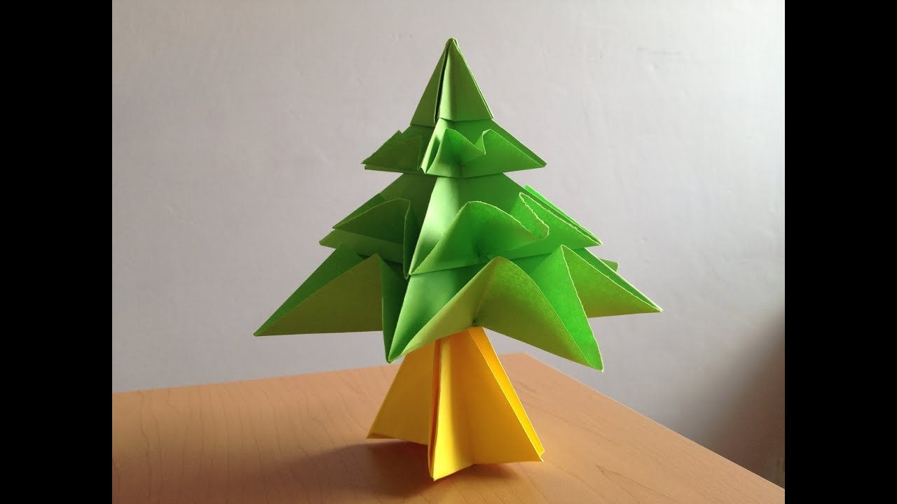 Pino navideo de origami YouTube