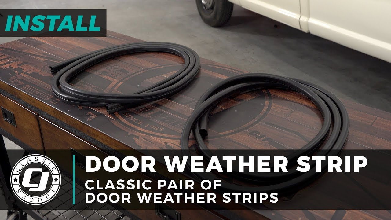 Rubber Door Weatherstrip Seal Left or Right for 73-79 Ford Bronco Pickup Truck