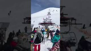 Accident of chair lift.