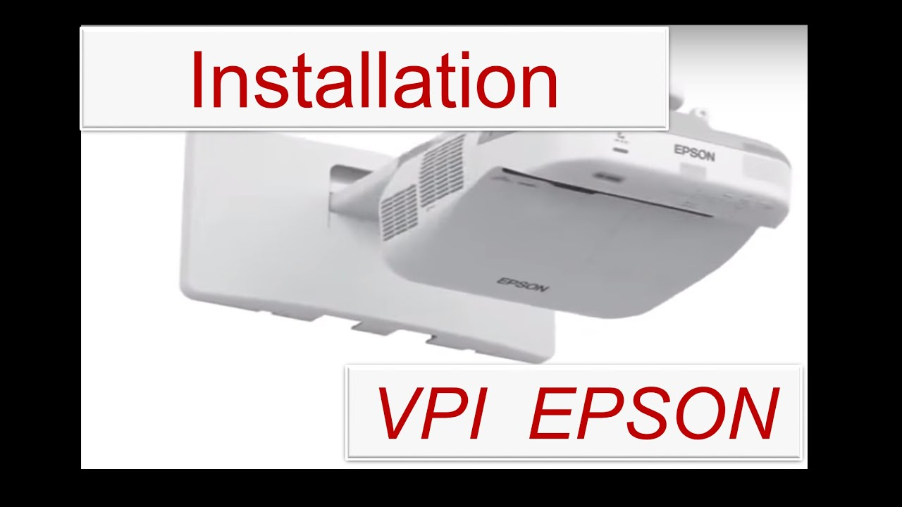 installation de videoprojecteur interactif epson vpi youtube. Black Bedroom Furniture Sets. Home Design Ideas