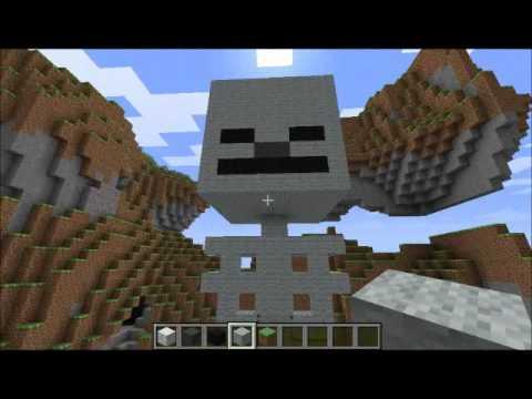 Minecraft Skeleton Statue Tutorial - YouTube