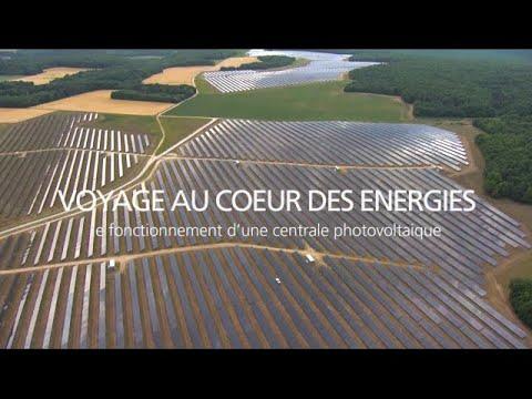 Le fonctionnement d'une centrale photovoltaique