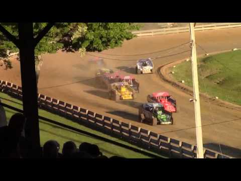 Little Valley Speedway BEI Lightning Series Sportsman Heat Races 7-3-17