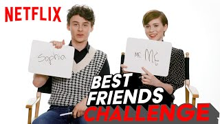 Wyatt Oleff And Sophia Lillis Bff Test | I Am Not Okay With This | Netflix
