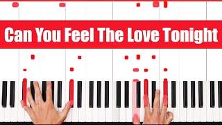 Can You Feel The Love Tonight Elton John Piano Tutorial - EASY
