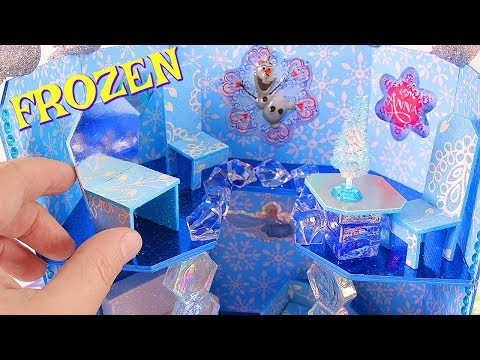 DIY Miniature FROZEN Doll House + miniature Christmas Tree