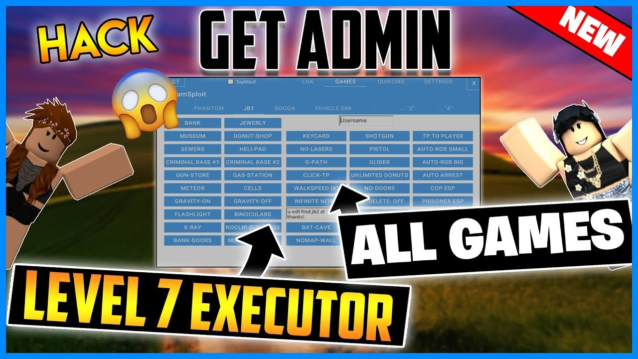 New Roblox Exploit Get Admin All Games Level 7
