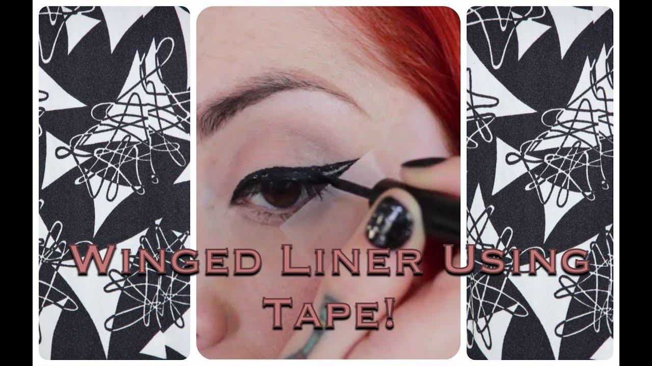 EASY! Vintage Winged Eyeliner Tutorial Using Tape! by ...