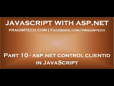 ASP NET control client id in JavaScript