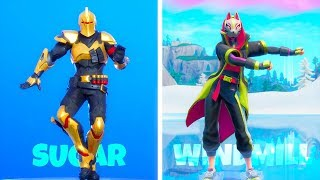 'NEW' Fortnite EMOTES LEAKED GAMEPLAY..! (Maxed Ultima Chevalier) Fortnite Bataille Royale