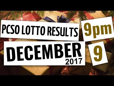 Lotto Results Dec 9, 2017, 9PM ft. Ez2, Swertres, 6D, 6-42, & 6-55