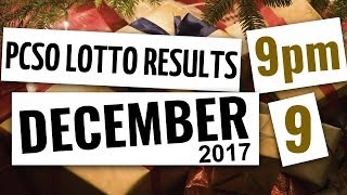 Lotto Results Dec 9, 2017, 9PM ft. Ez2, Swertres, 6D, 6-42, & 6-55