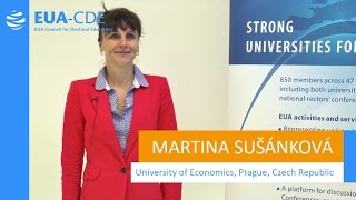 EUA-CDE (Council for Doctoral Education) - Martina Sušánková, University of Economics, Prague thumbnail