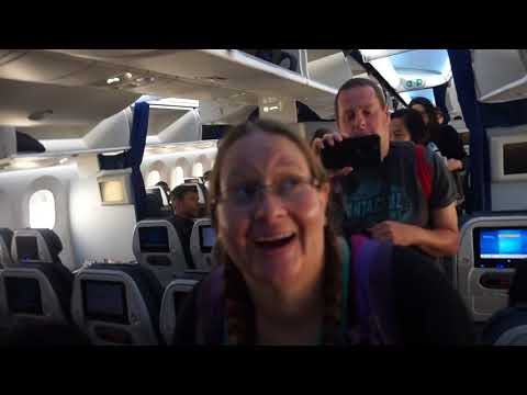boarding our Seattle to Tokyo flight with All Nippon Airways (September 6th, 2017)