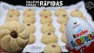 GALLETAS KINDER - Las mas faciles y rapidas del mundo - TE SORPRENDERAN!