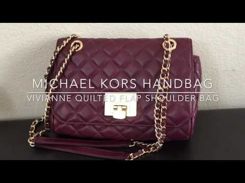 a2c9f25e906a Michael KORS VIVIANNE QUILTED Leather FLAP SHOULDER BAG