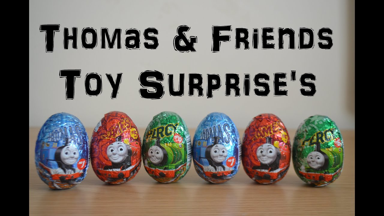 Thomas The Tank Engine & Friends James Percy Toy Surprise Egg Collection Unwrapping (HD) - YouTube
