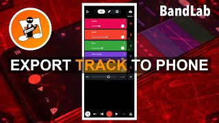 How to export any bandlab track to your phone as an audio file.