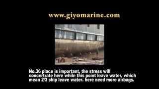 ship landing work by airbag