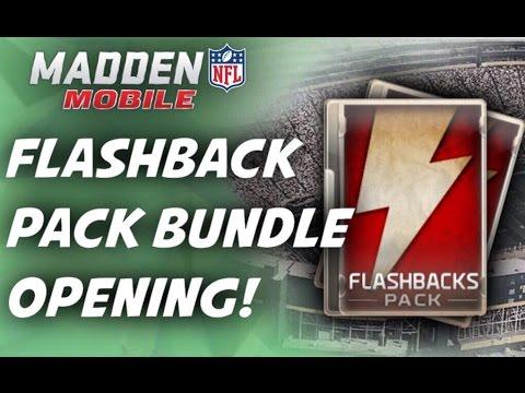 Madden mobile flashback pack bundle opening crazy legend pull