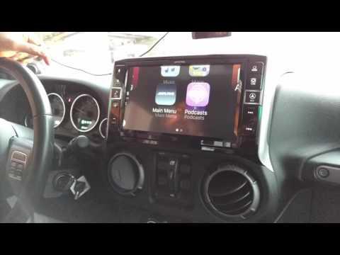 "2013 Jeep Wrangler Alpine 9"" In-Dash Radio w/Apple CarPlay Installed"