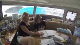 SE1 EP9. Home Schooling on a Sailing Catamaran. Sailing Trio Travels.