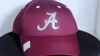 Alabama Crimson Tide Swarovski Crystal Bling Hat Cap