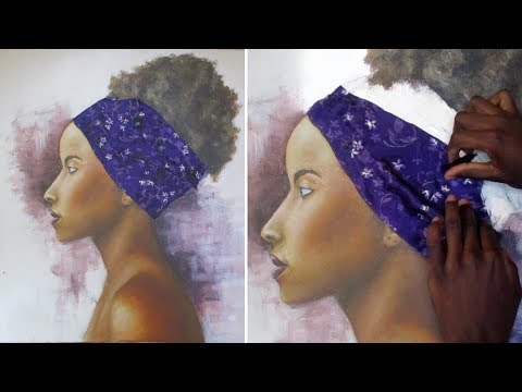 PORTRAIT PAINTING TIME LAPSE || acrylic painting