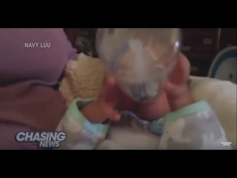 Baby Holds His Own Bottle At Just 18 Days
