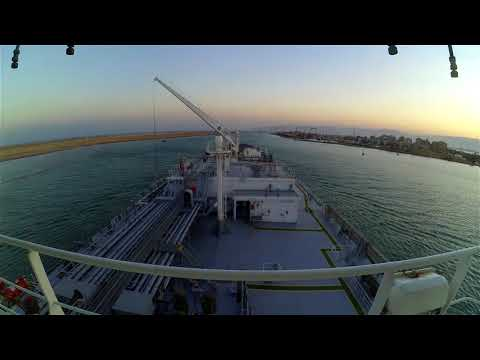 Transiting Suez Canal - Very Large Gas Carrier