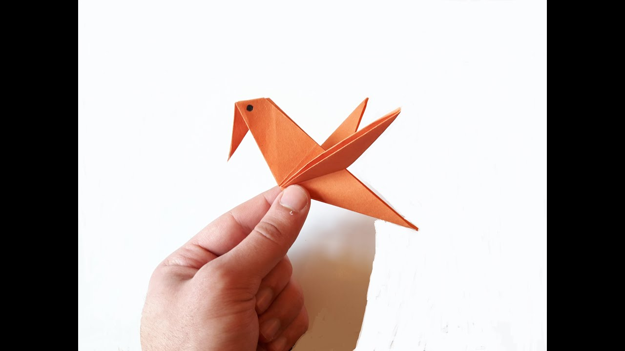 How To Make A Paper Bird Very Easy Youtube