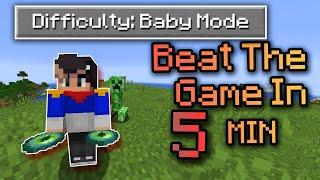 I Decided to Speedrun Fundy's Minecraft Baby Mode...