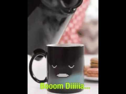 Bom dia com um café bem quentinho e um belo sorrisoo