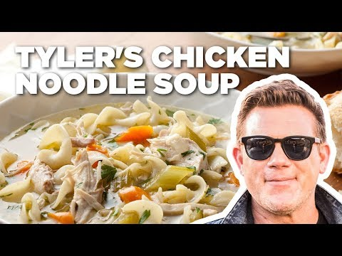 Tyler Florence Makes Chicken Noodle Soup | Food Network