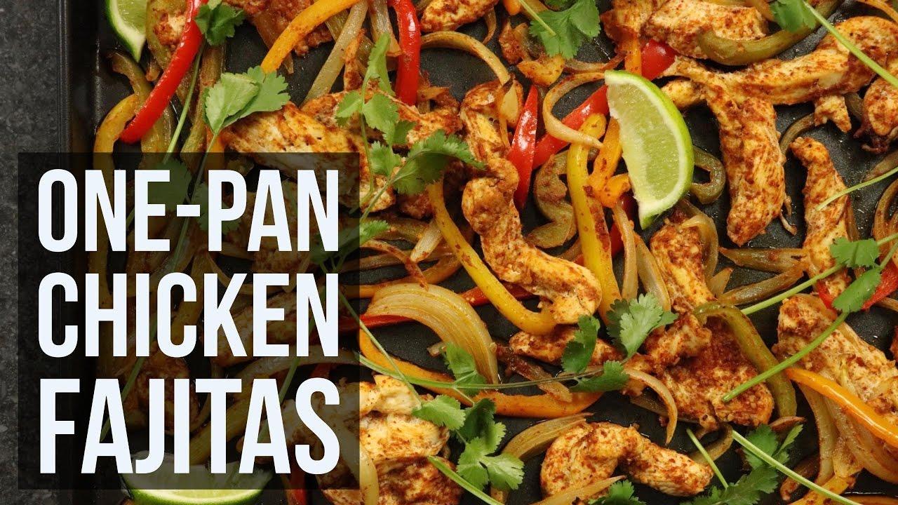One pan chicken fajitas easy sheet pan dinner recipe by forkly one pan chicken fajitas easy sheet pan dinner recipe by forkly forumfinder Choice Image