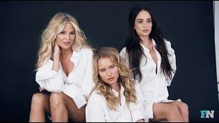 On Set With Christie Brinkley and Daughters