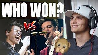 Brendon Urie vs. Harry Styles - Best Live Vocals REACTION