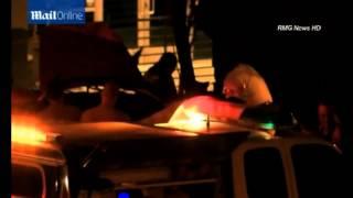 Тело Пола Уокера вытаскивают из обгоревшего Porsche