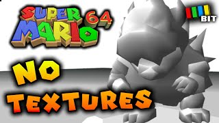 Beating Super Mario 64 With NO TEXTURES [TetraBitGaming]
