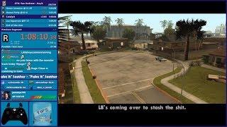 GTA San Andreas Any% Speedrun - Hugo_One Twitch Stream - 3/6/2019