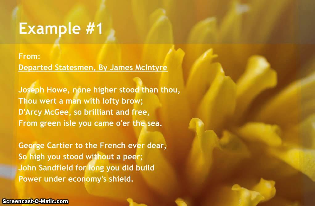 Examples of Hyperbole in Poems - YouTube