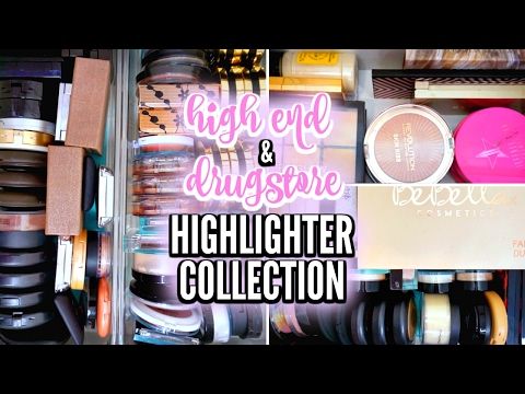 MAKEUP COLLECTION 2017 | High End & Drugstore Highlighters / Highlighter Palettes ♡ Deanna Borocz
