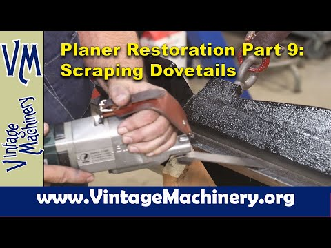New Haven Metal Planer  Restoration - Part 9: Scraping the Cross Head Dovetail and Flat