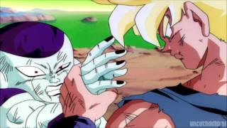 Dragon Ball Z Kai - SSJ Goku Crushes Frieza's Hand [1080p Full HD]